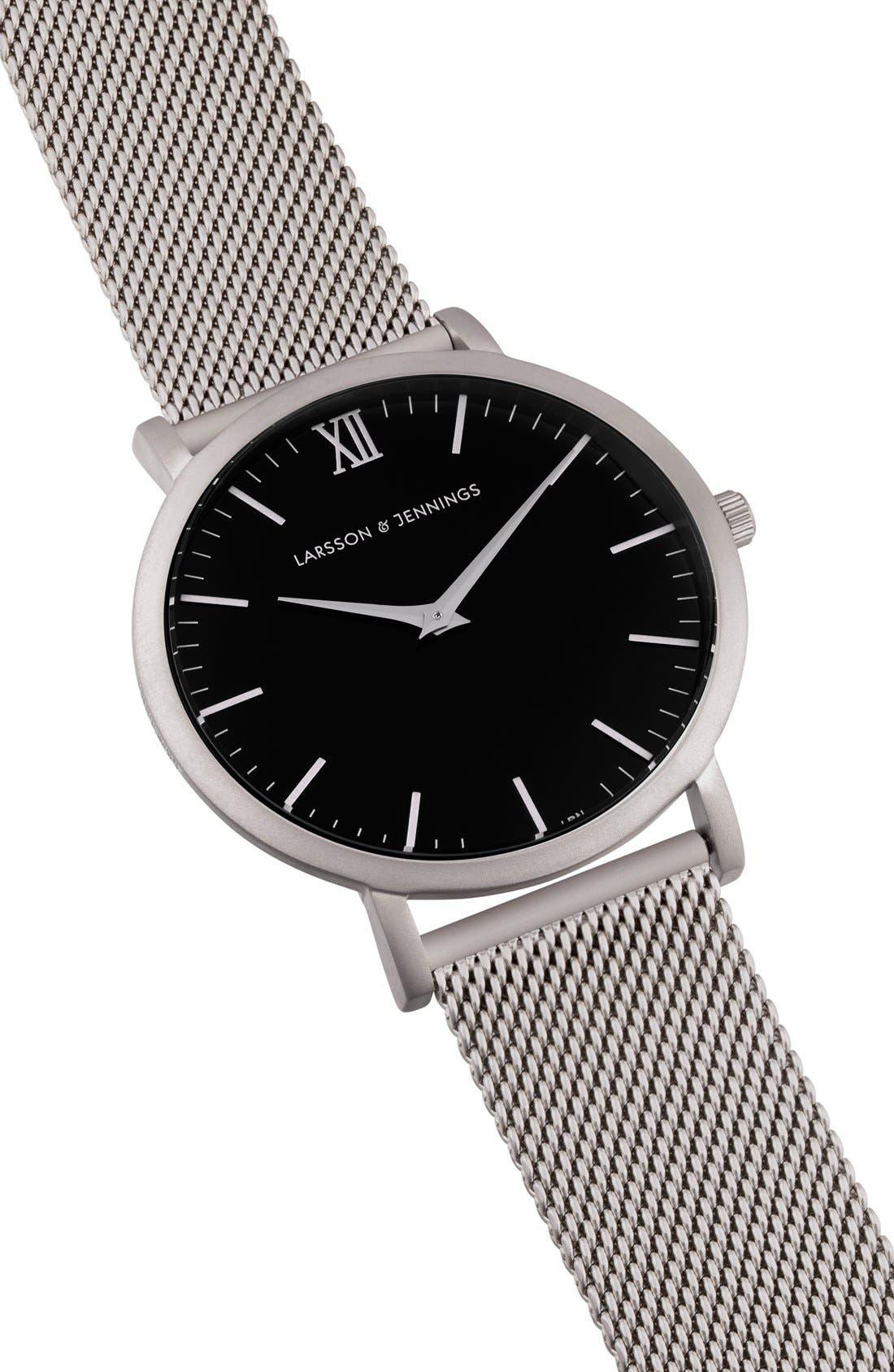 Alternate Image 5  - Larsson & Jennings Lugano Mesh Strap Watch, 40mm