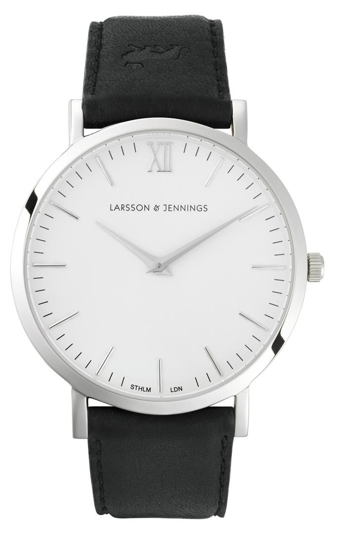 Larsson jennings 39 lugano 39 leather strap watch 40mm nordstrom for Watches 40mm
