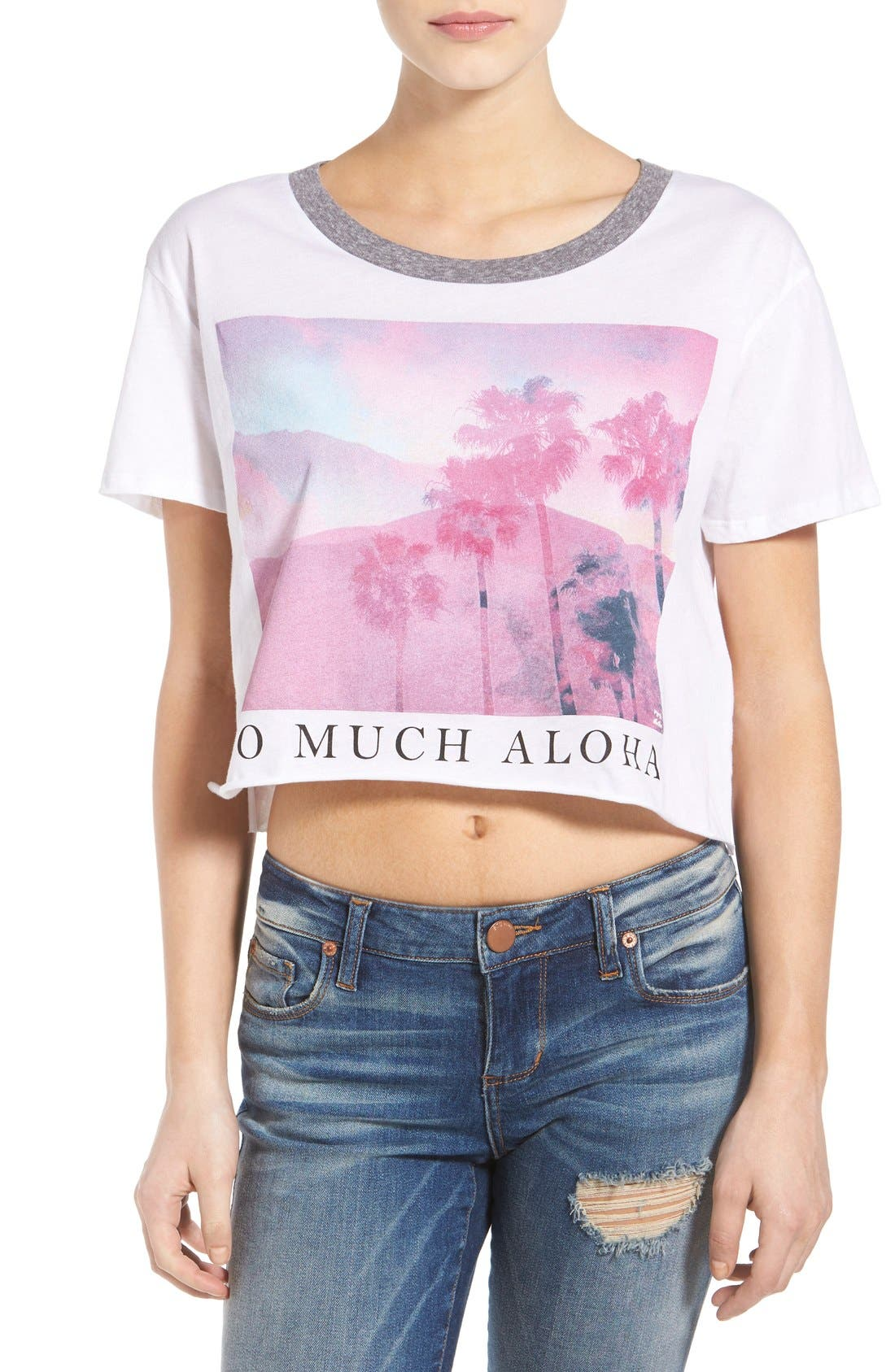 Alternate Image 1 Selected - Billabong 'So Much Aloha' Graphic Crop Tee