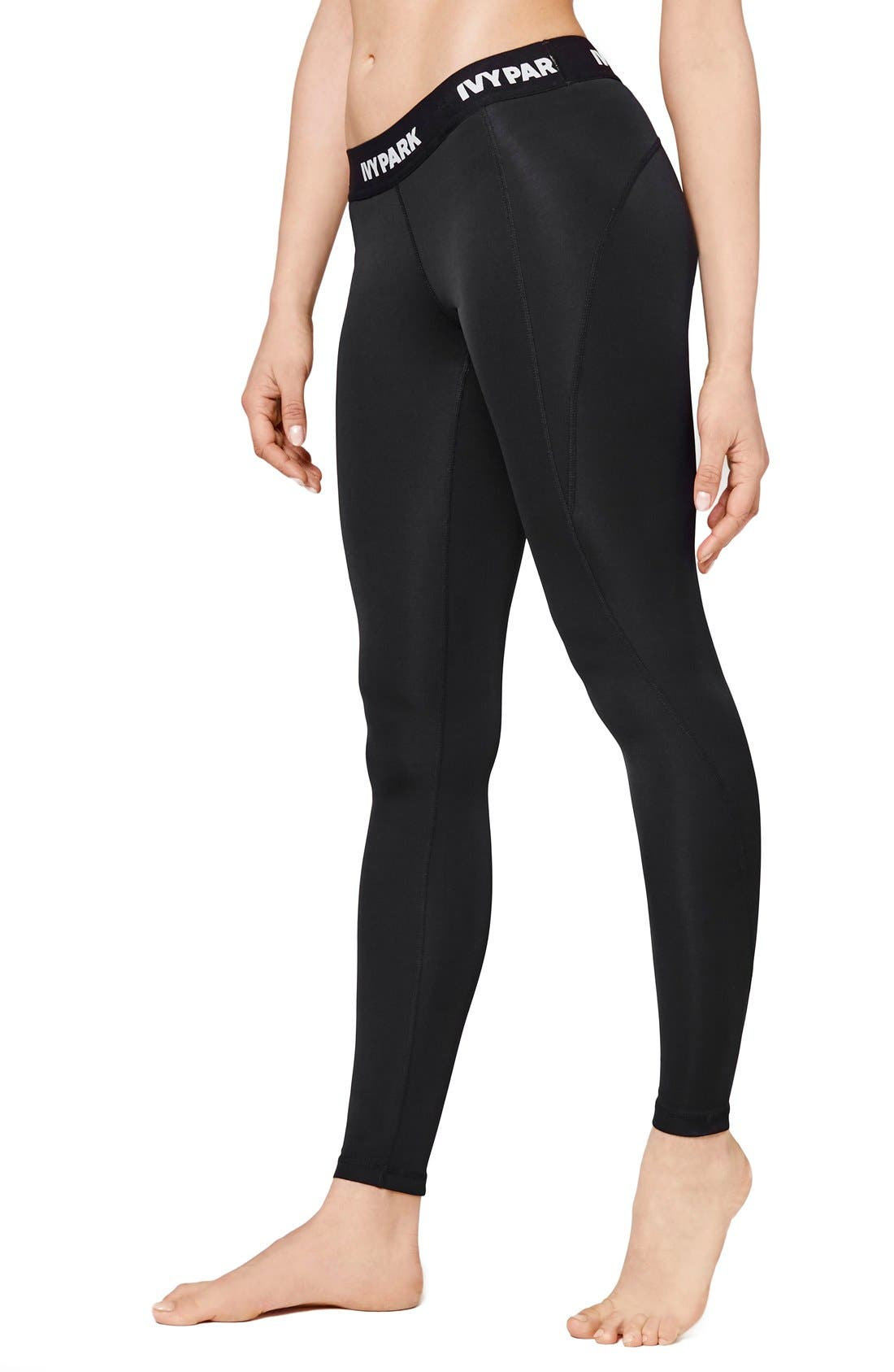 IVY PARK 'I' Low Rise Full Length Leggings