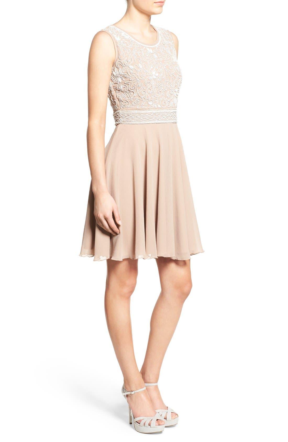Alternate Image 3  - Lace & Beads 'Lola' Embellished Skater Dress