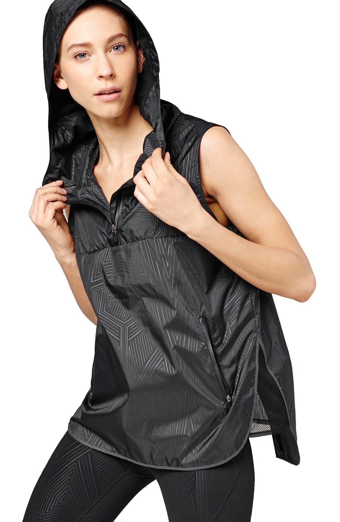 Main Image - IVY PARK® Reflective Print Hooded Sleeveless Jacket