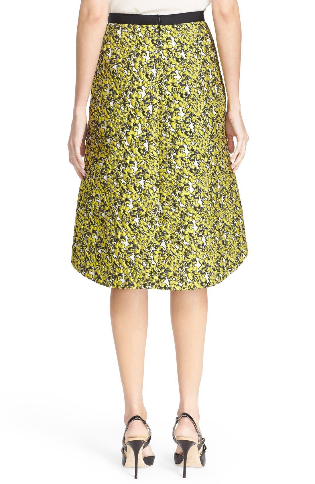 Alternate Image 2  - Oscar de la Renta Embellished Floral Jacquard Skirt