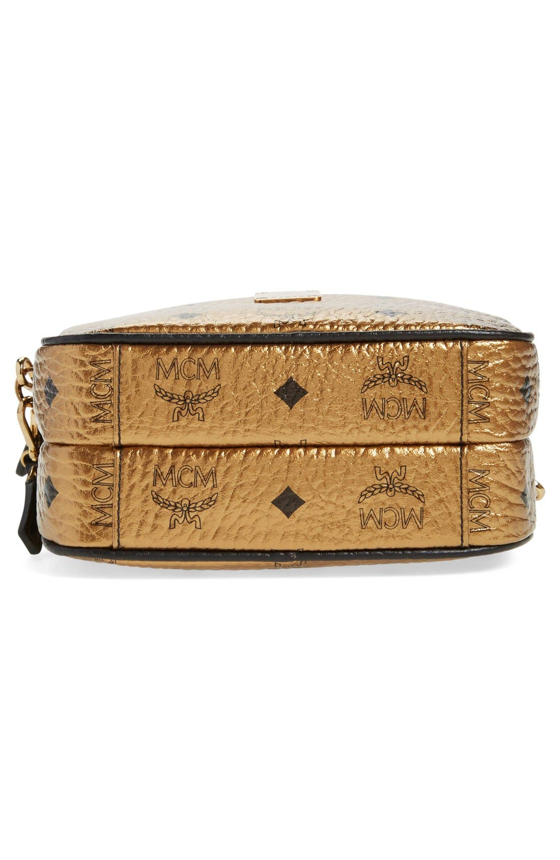 Alternate Image 6  - MCM 'Heritage - Visetos' Metallic Coated Canvas Crossbody Bag (Nordstrom Exclusive)