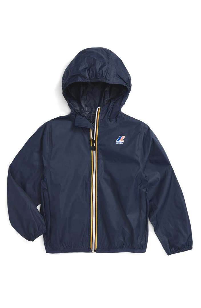 k way 39 claude 3 0 39 hooded waterproof windbreaker jacket toddler boys little boys big boys. Black Bedroom Furniture Sets. Home Design Ideas
