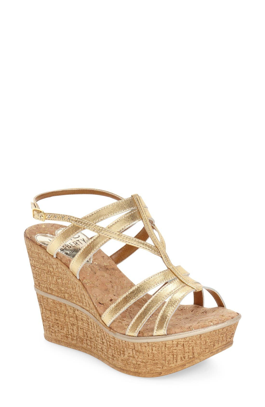 LOVE AND LIBERTY 'Victoria' Wedge Sandal
