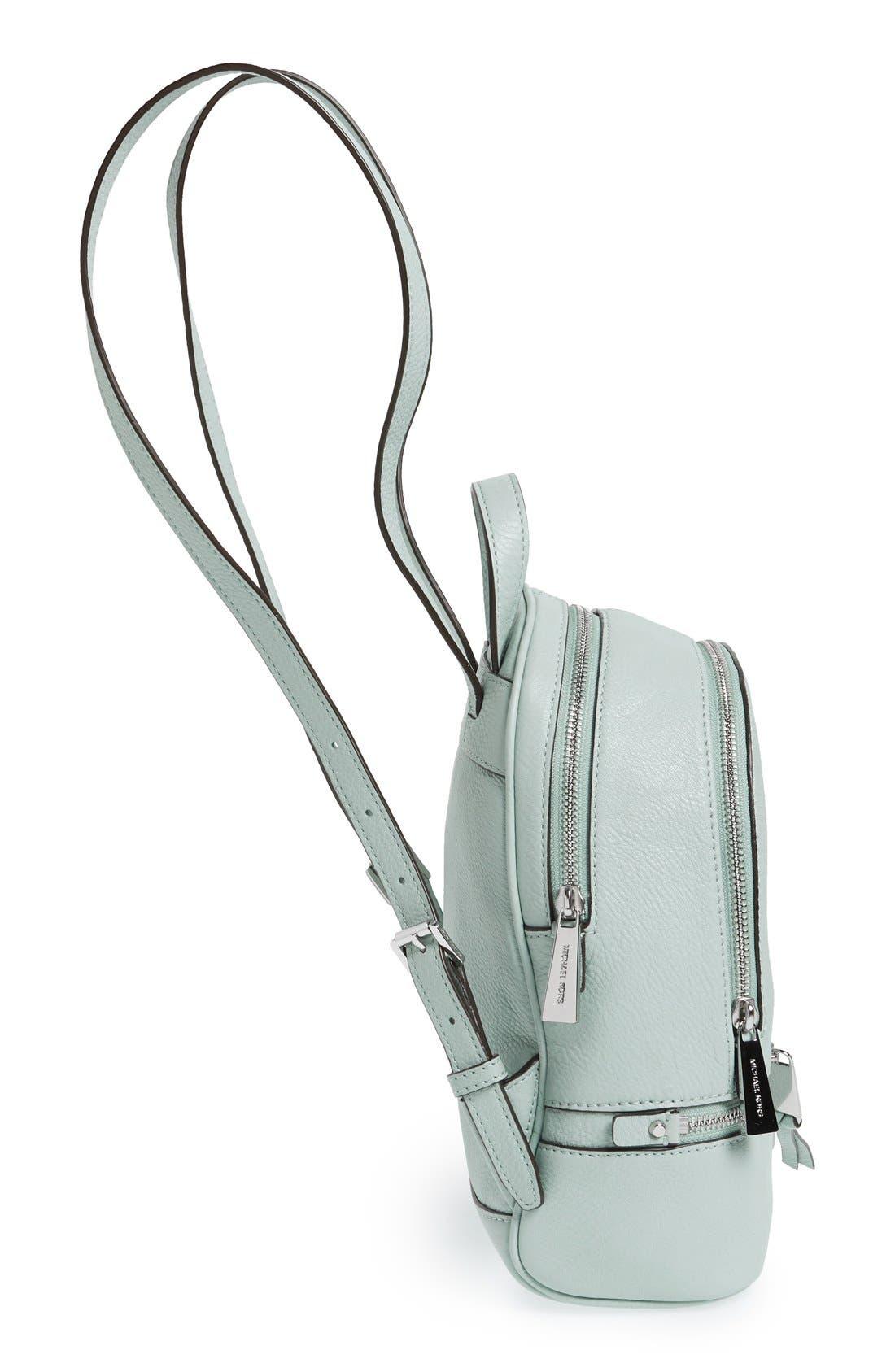Alternate Image 5  - MICHAEL Michael Kors 'Extra Small Rhea' Leather Backpack