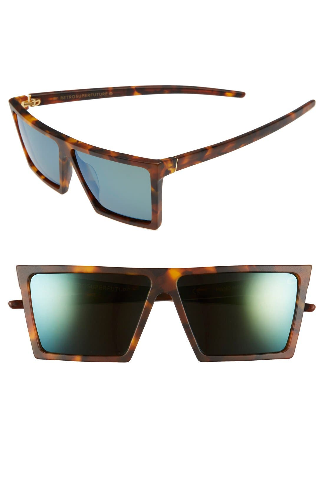 SUPER by RETROSUPERFUTURE® 'W Team' 58mm Square Sunglasses