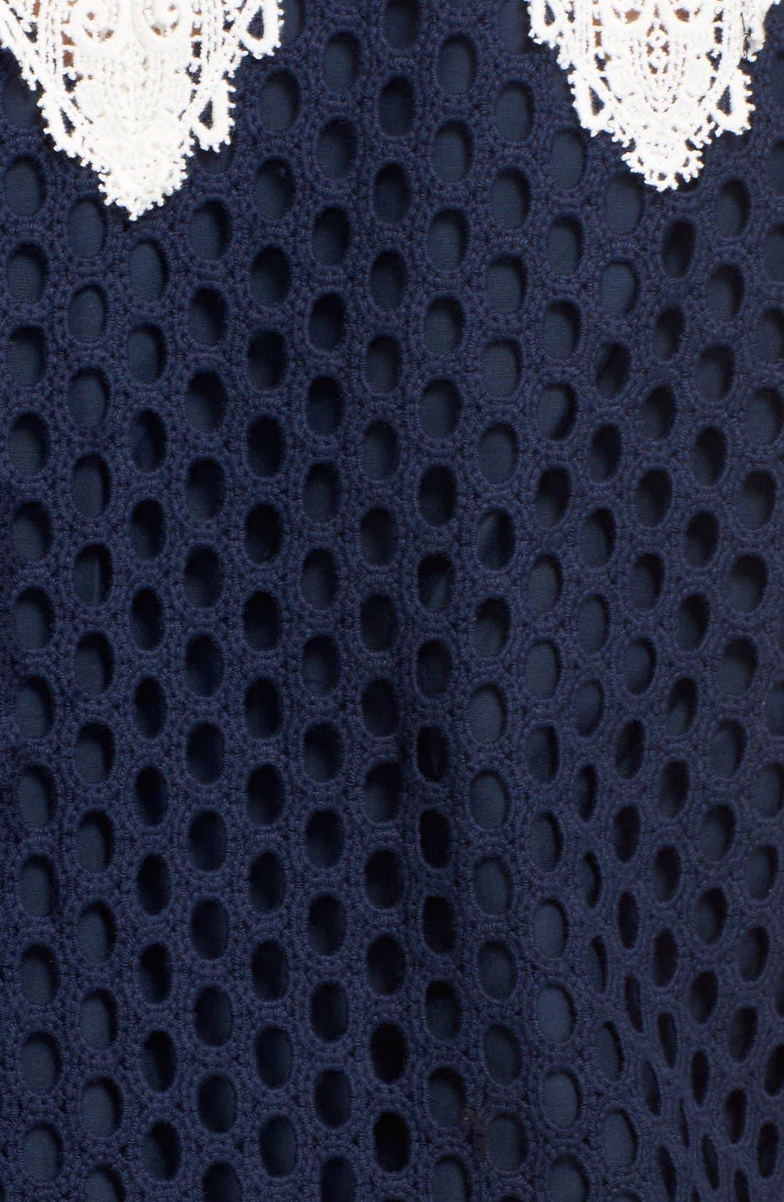 Alternate Image 5  - Sea Sleeveless Cotton Lace Dress