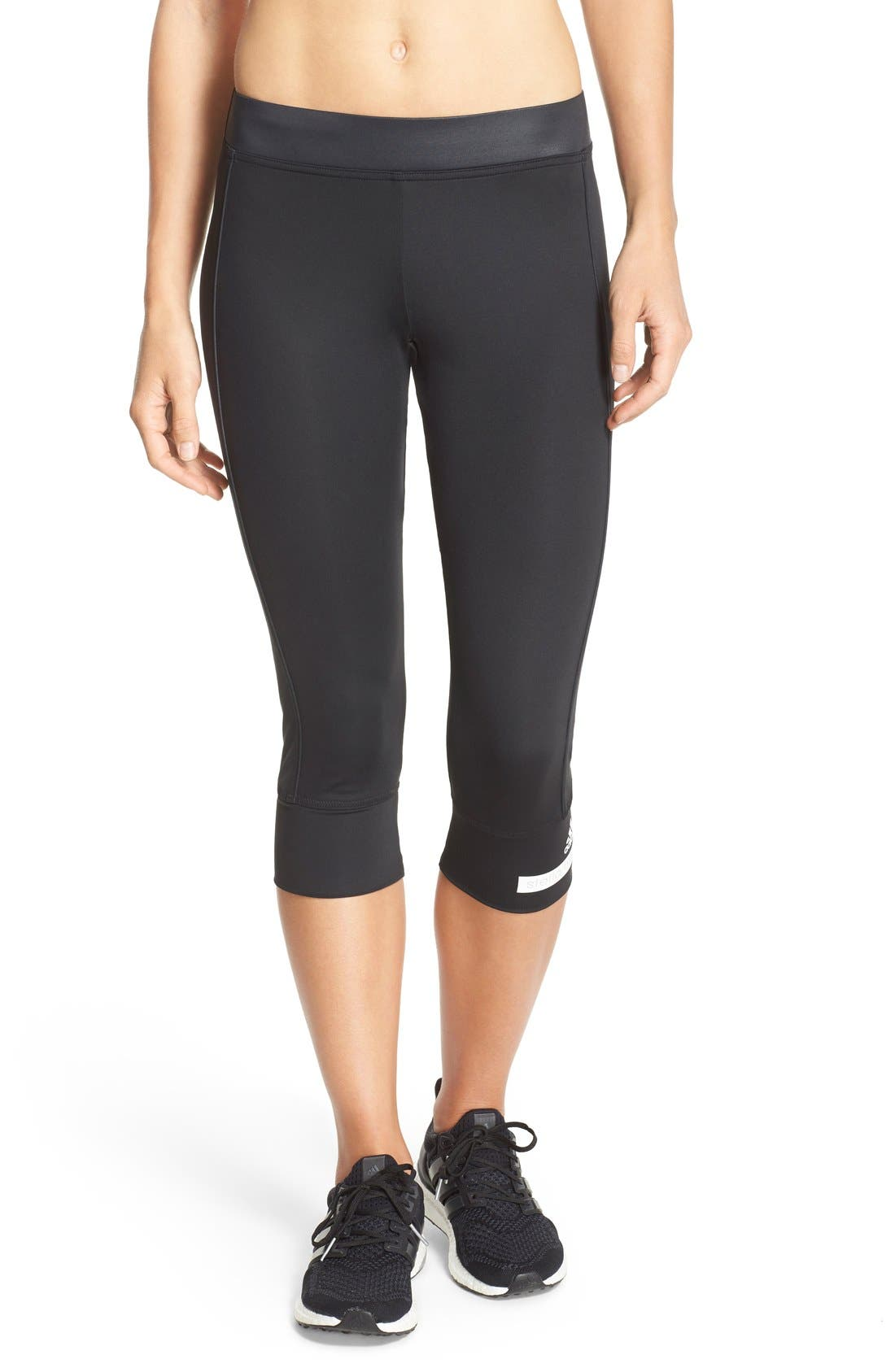 Main Image - adidas by Stella McCartney 'The Performance' Climalite® Three-Quarter Tights