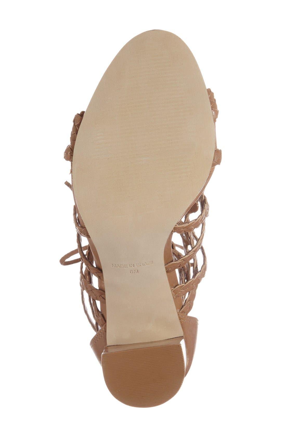 Alternate Image 4  - Steve Madden 'Tarrra' Ghillie Block Heel Sandal (Women)