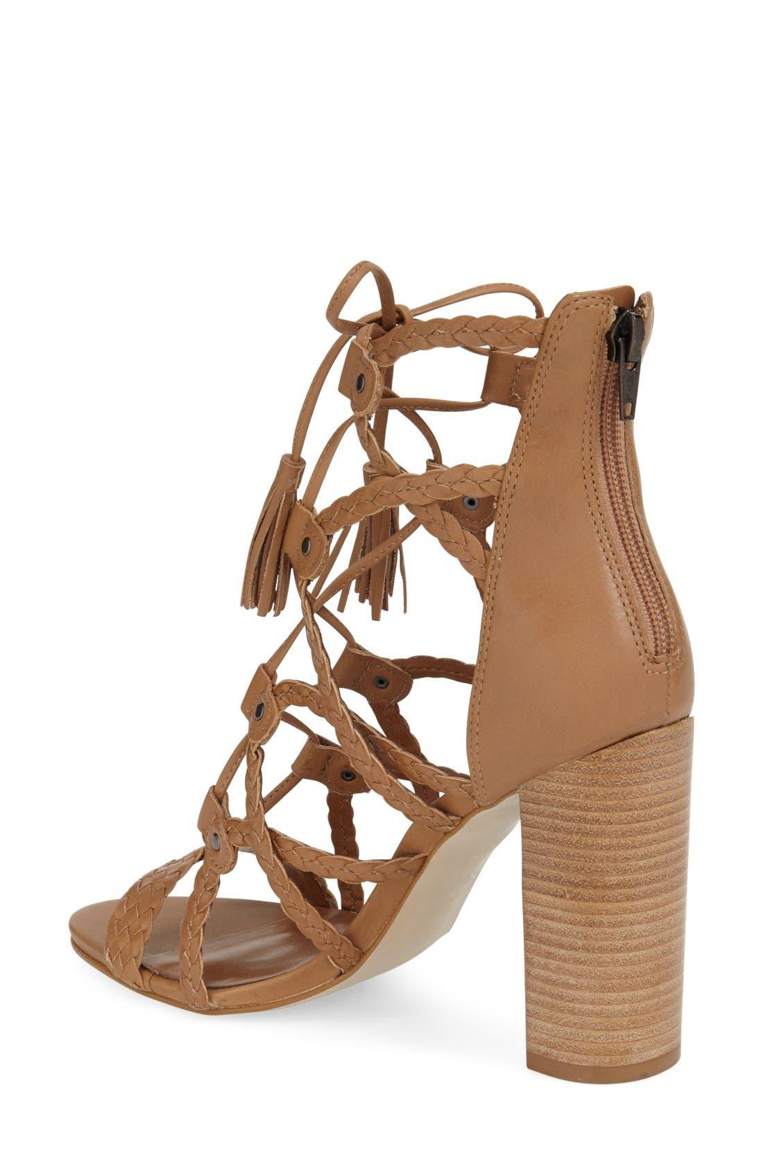 Alternate Image 2  - Steve Madden 'Tarrra' Ghillie Block Heel Sandal (Women)
