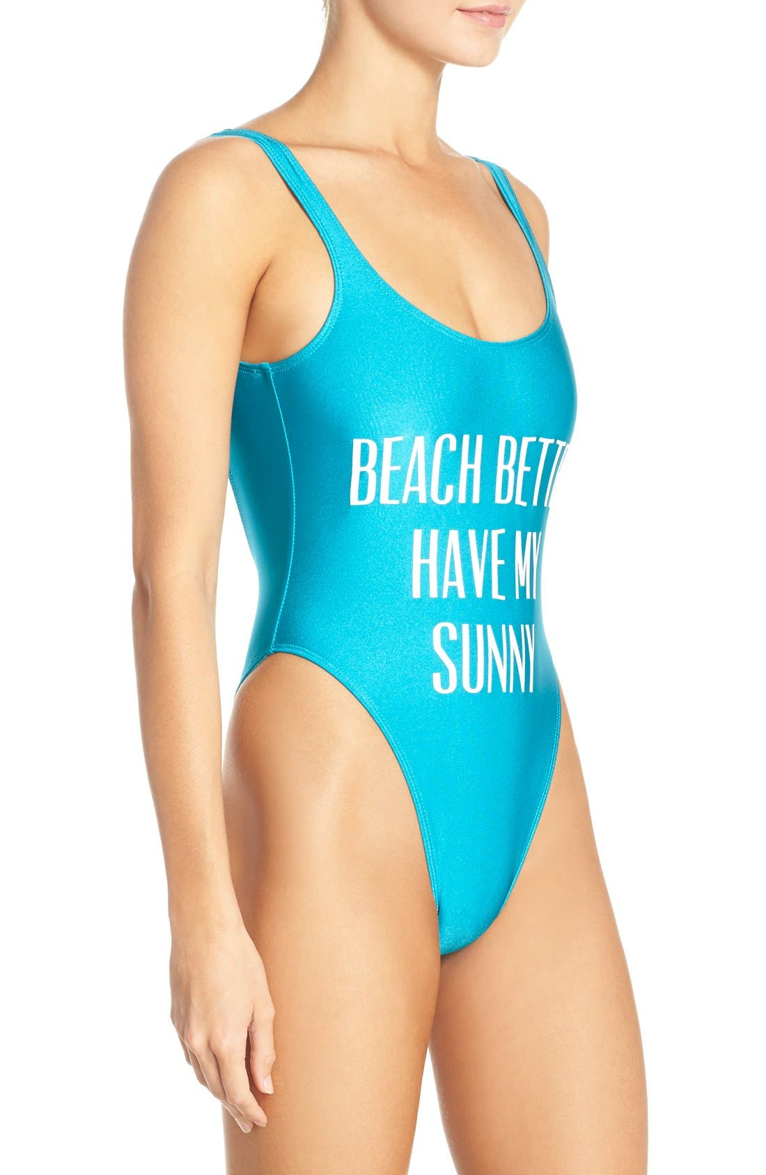 Alternate Image 3  - Private Party 'Beach Better Have My Sunny' One-Piece Swimsuit