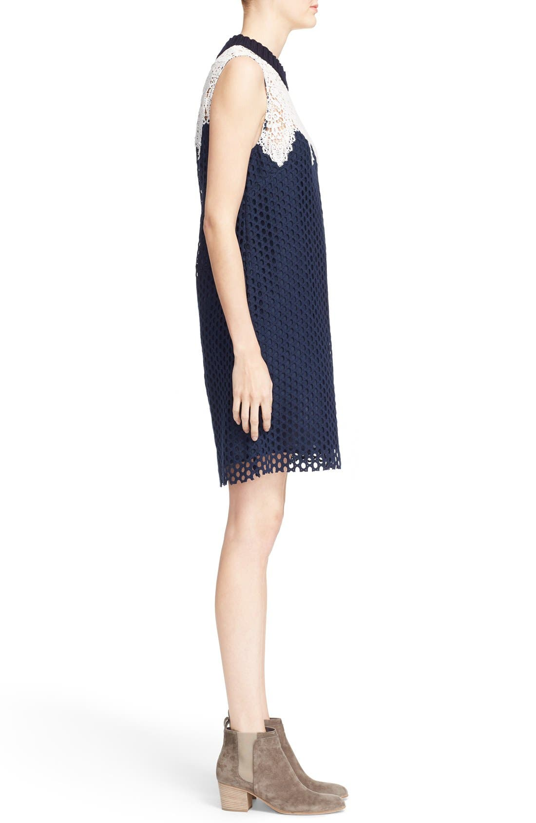 Alternate Image 3  - Sea Sleeveless Cotton Lace Dress