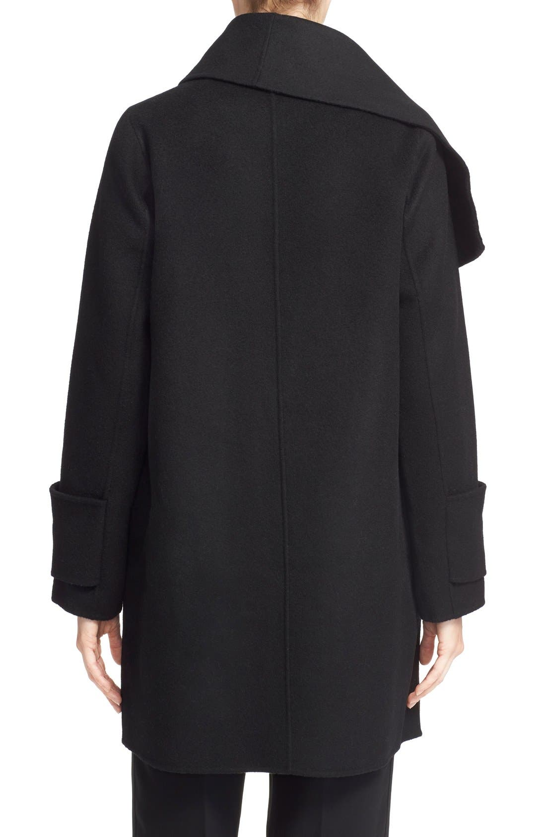 Alternate Image 2  - Vince Drape Neck Wool Blend Coat