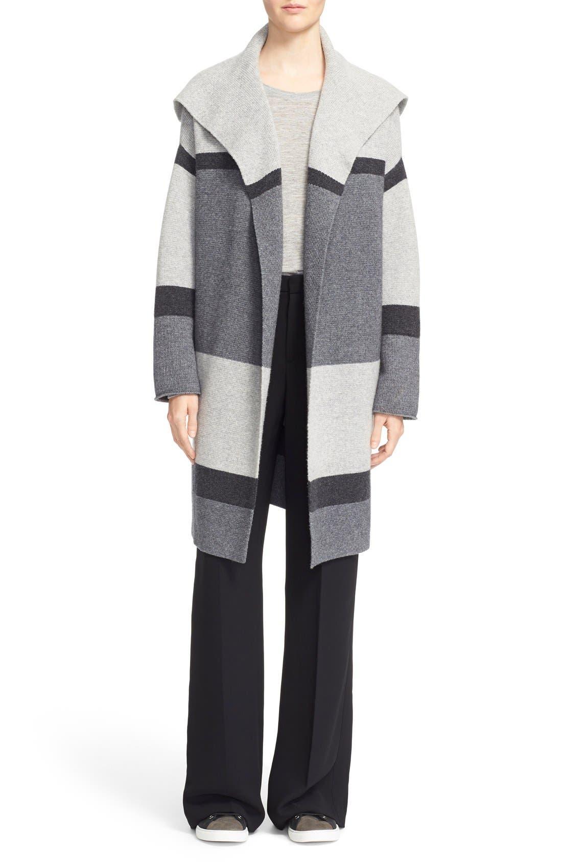 Alternate Image 2  - Vince Colorblock Wool & Cashmere Knit Car Coat