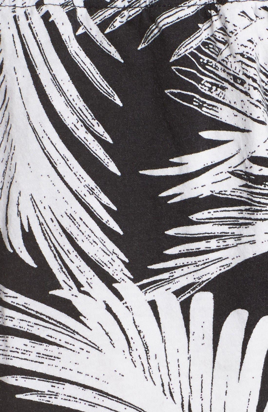 Alternate Image 5  - PJ Salvage Palm Print Pajama Shorts