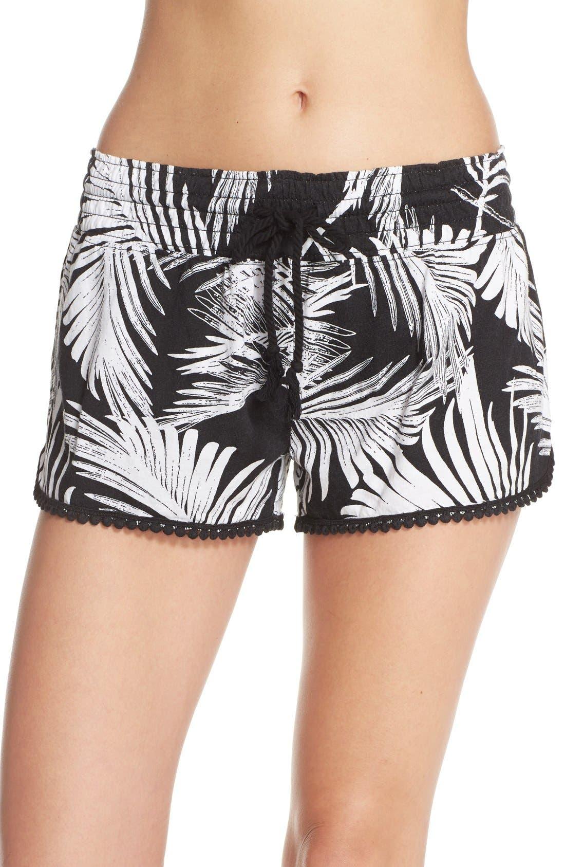 Alternate Image 1 Selected - PJ Salvage Palm Print Pajama Shorts