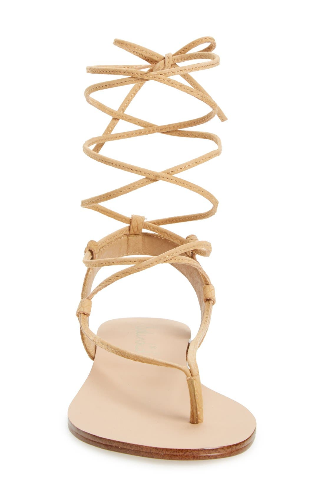 Alternate Image 3  - Splendid 'Candee' Wraparound Lace Flat Sandal (Women)