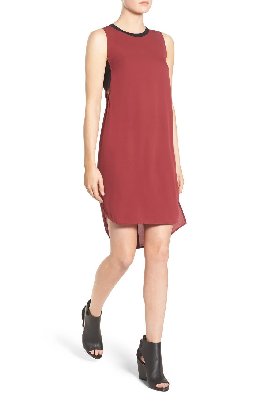 Alternate Image 4  - Trouvé Banded High/Low Shift Dress