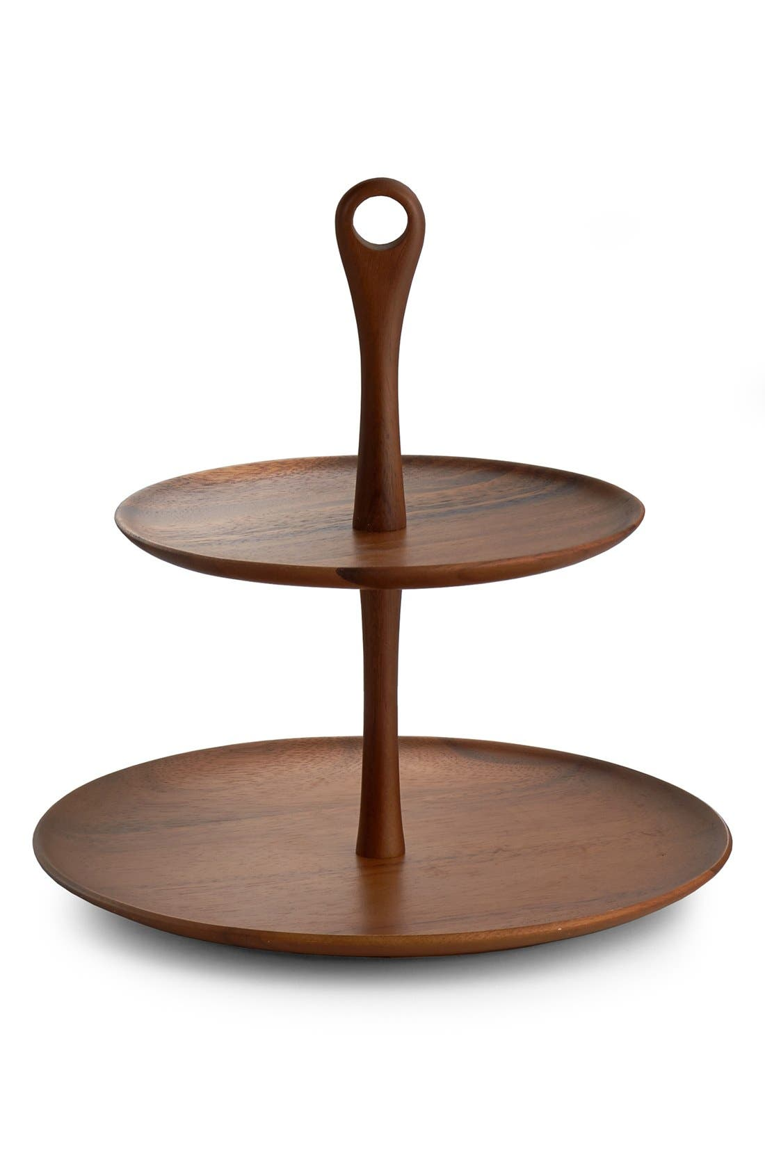 Alternate Image 2  - Nambé 'The Skye Collection' Wood Tiered Dessert Stand