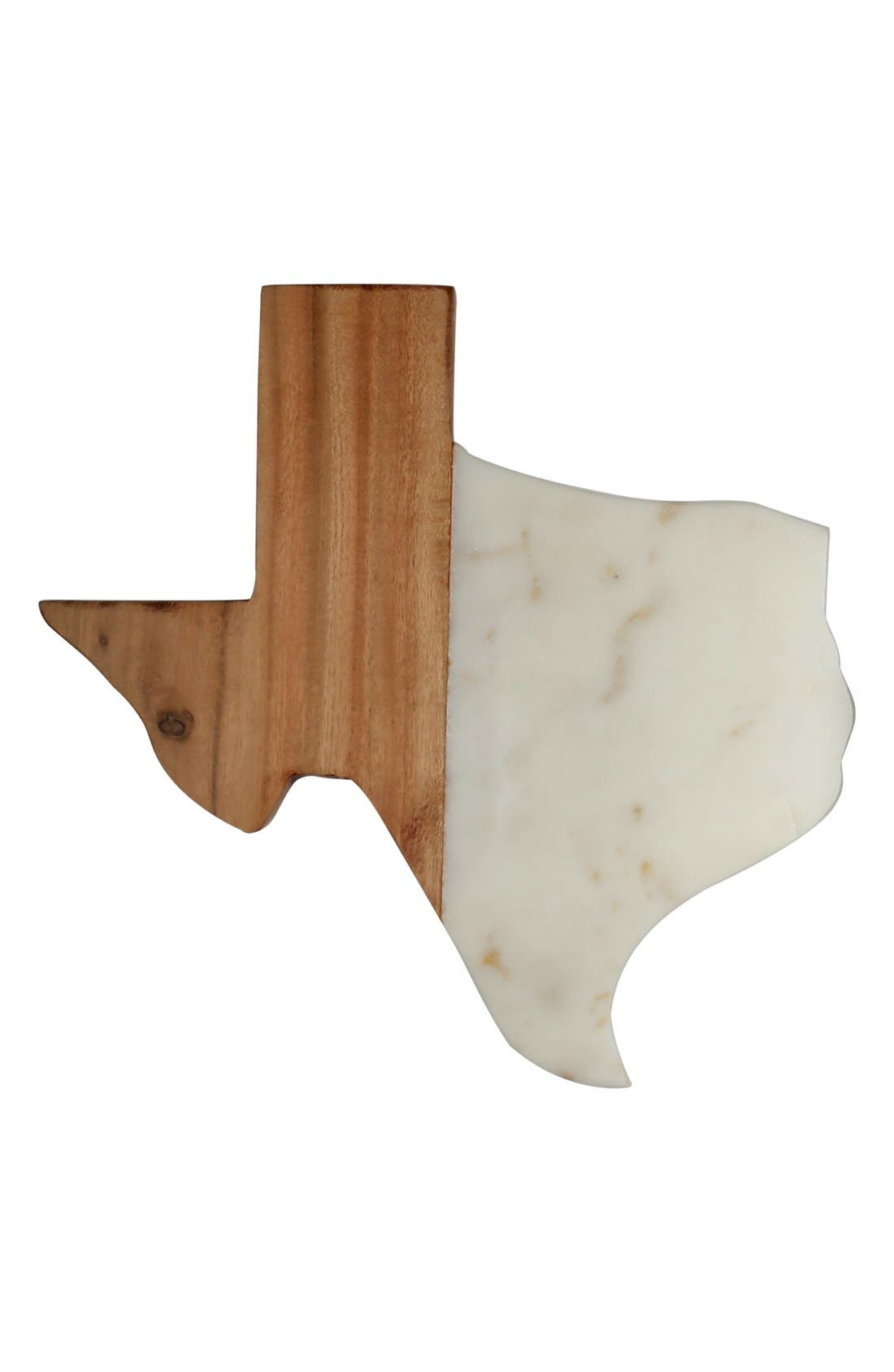Alternate Image 1 Selected - Thirstystone 'Texas' Marble & Wood Serving Board