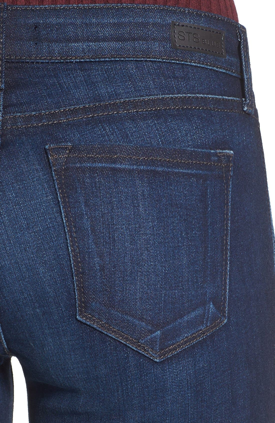 Alternate Image 5  - STS Blue Flare Leg Stretch Jeans (West Surfside)