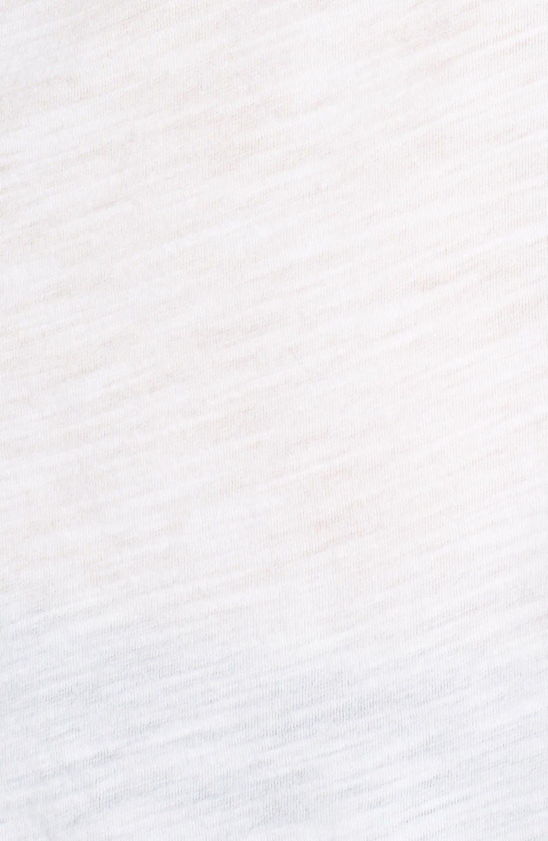 Alternate Image 5  - James Perse Sheer Slub Panel Shirt