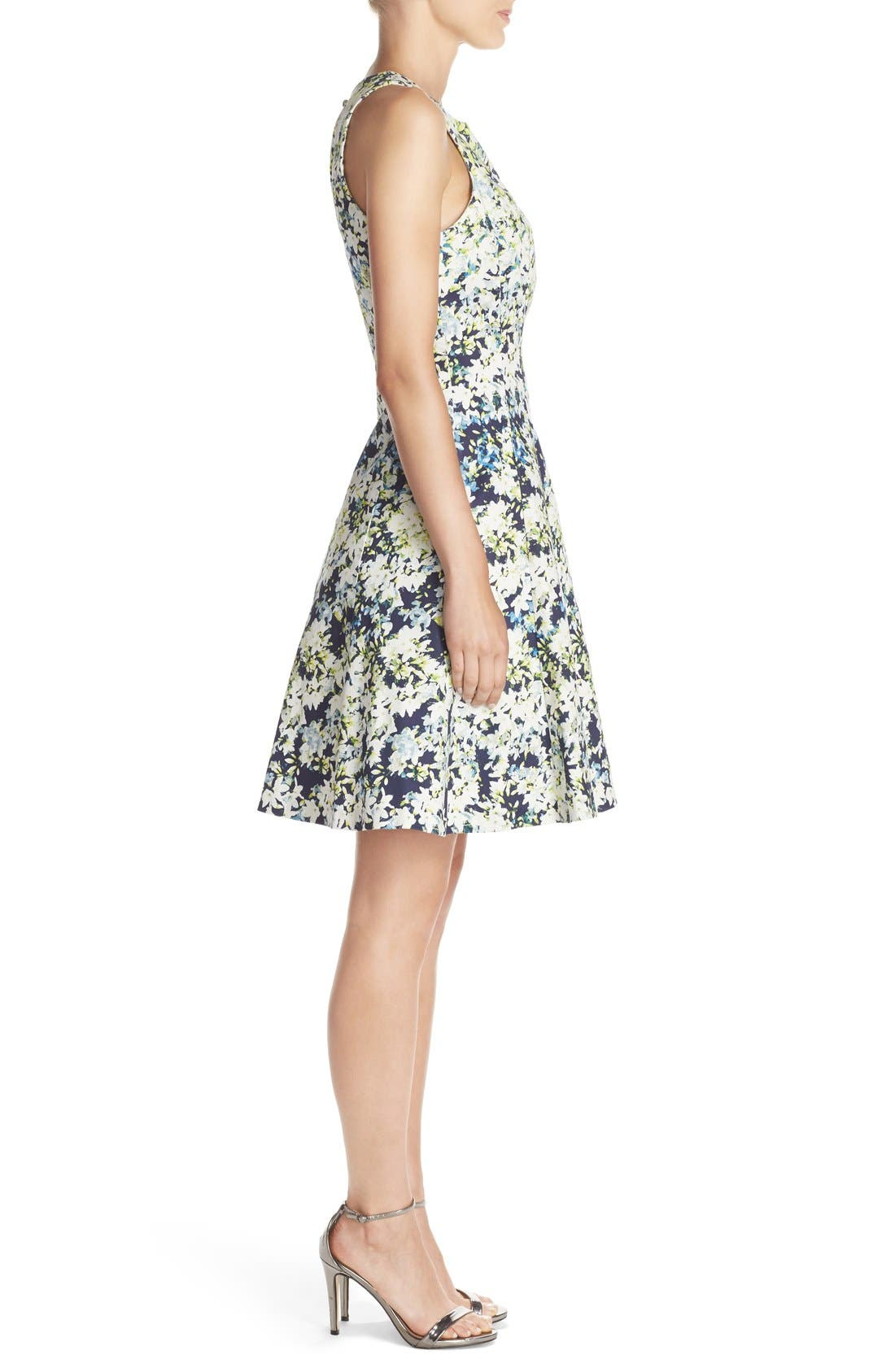 Alternate Image 3  - Maggy London Embroidered Cotton Blend Fit & Flare Dress (Regular & Petite)