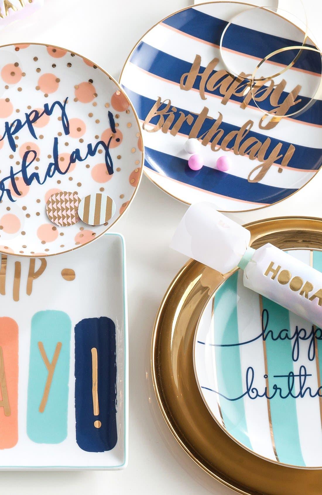 Alternate Image 2  - Rosanna 'Happy Birthday' Porcelain Plates (Set of 4)