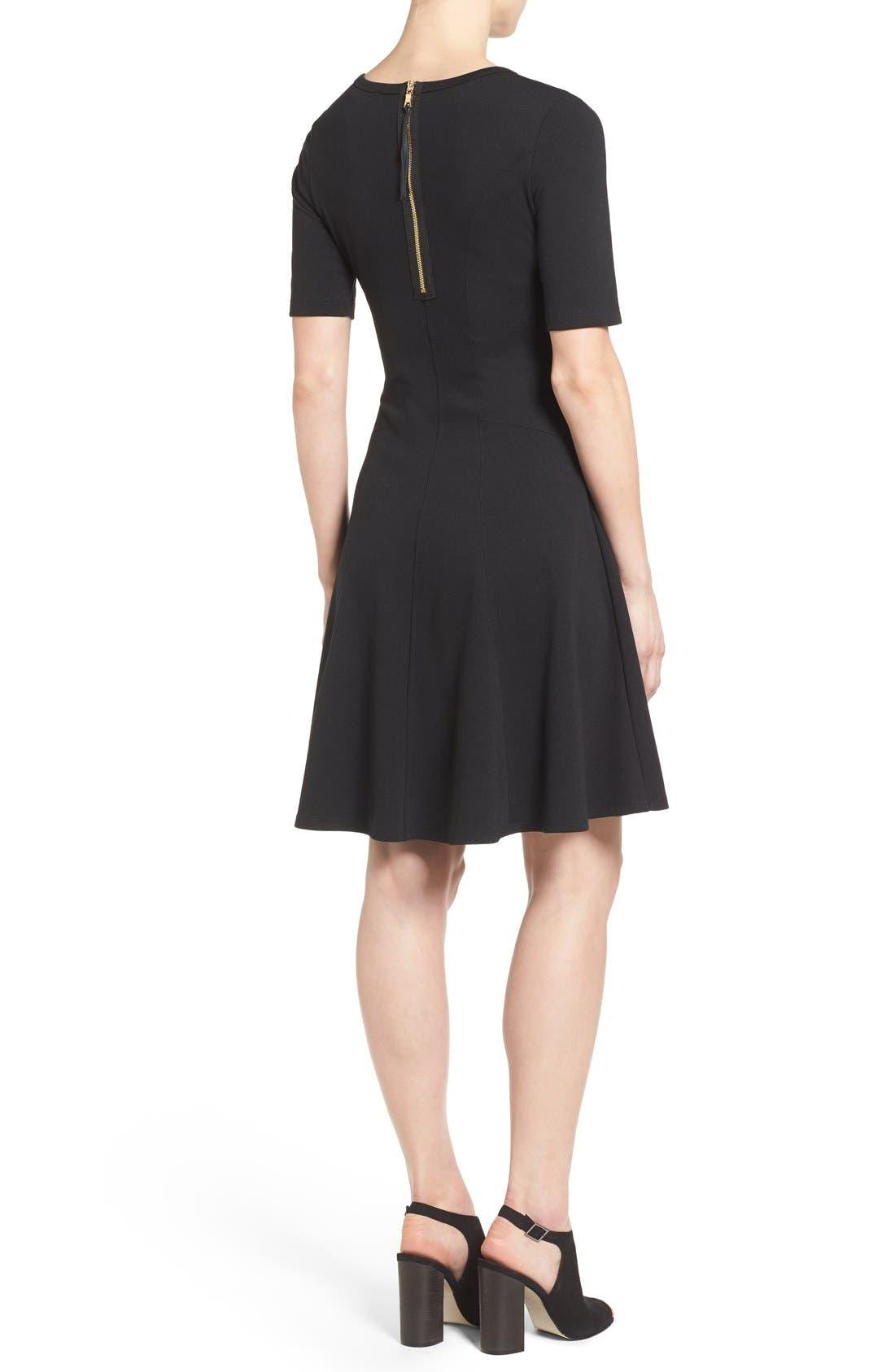 Alternate Image 2  - Karen Kane 'Michelle' Short Sleeve Fit & Flare Dress