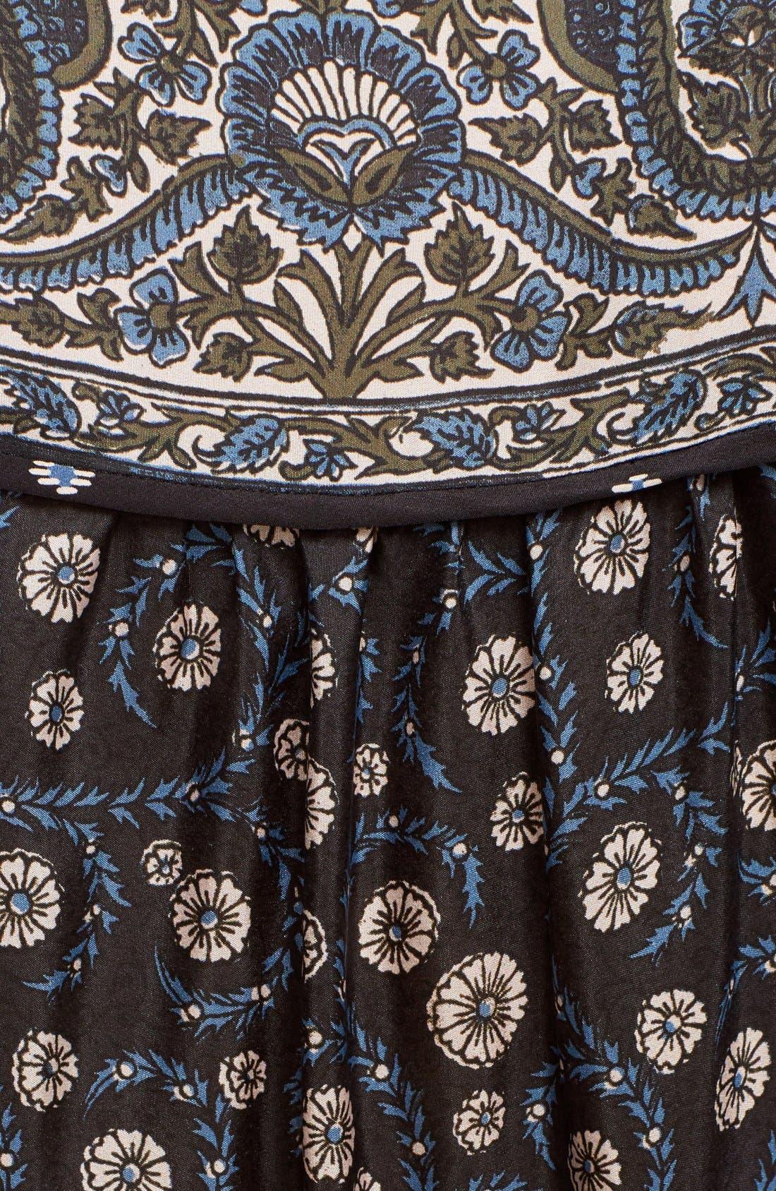 Alternate Image 5  - Veronica Beard 'Makai' Floral Print Silk Ruffle Hem Dress