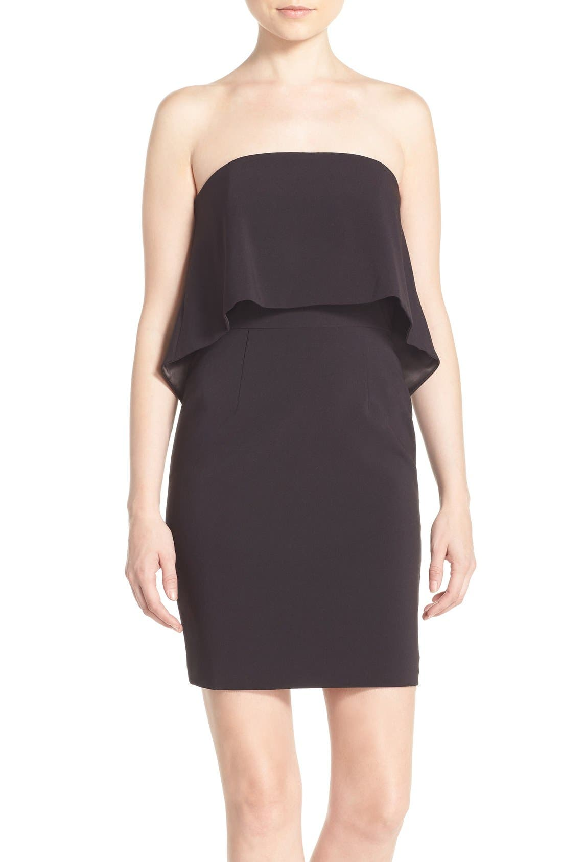 Main Image - Jay Godfrey 'Viola' Strapless Popover Sheath Dress