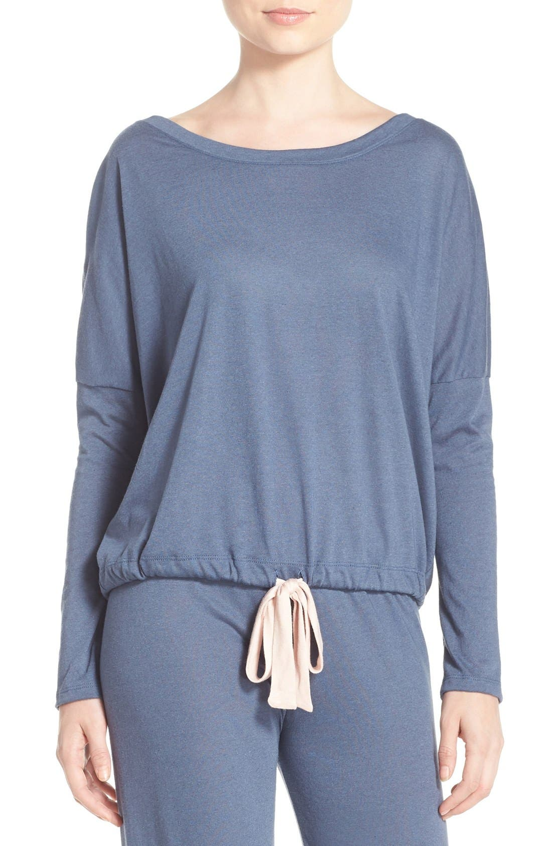 Main Image - Eberjey Heather Knit Slouchy Tee