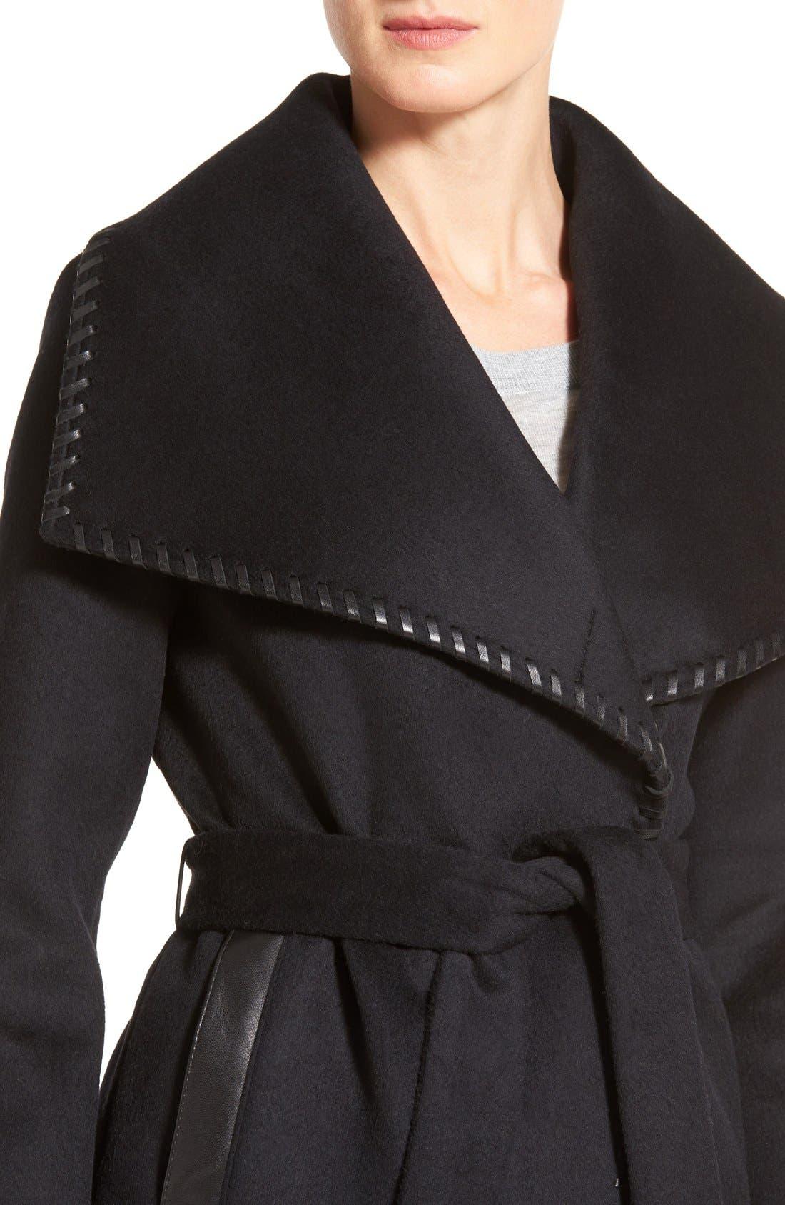 Alternate Image 4  - Elie Tahari Whipstitch Wool Blend Wrap Coat