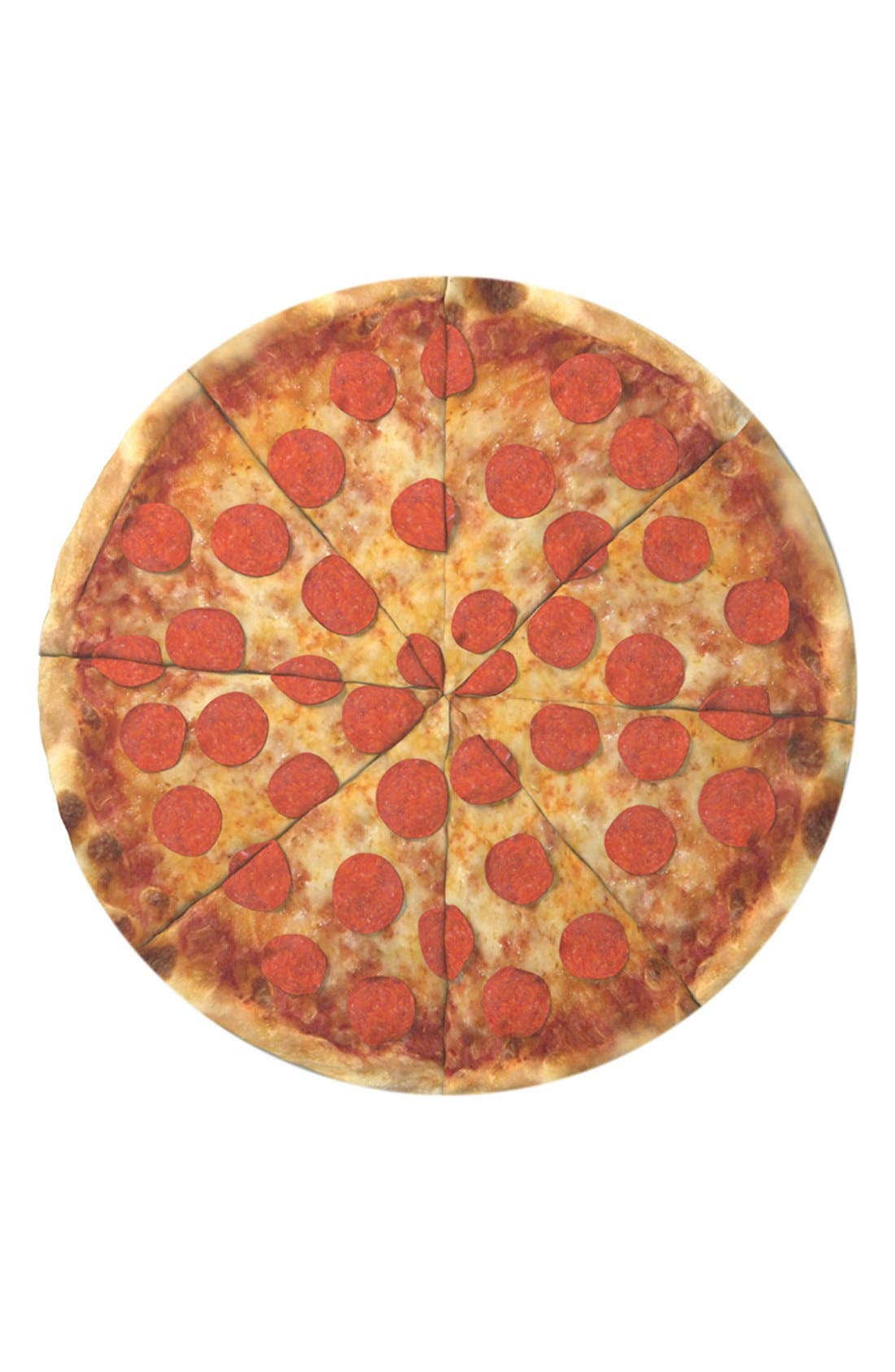Alternate Image 1 Selected - Round Towel Co. Pizza Round Beach Towel