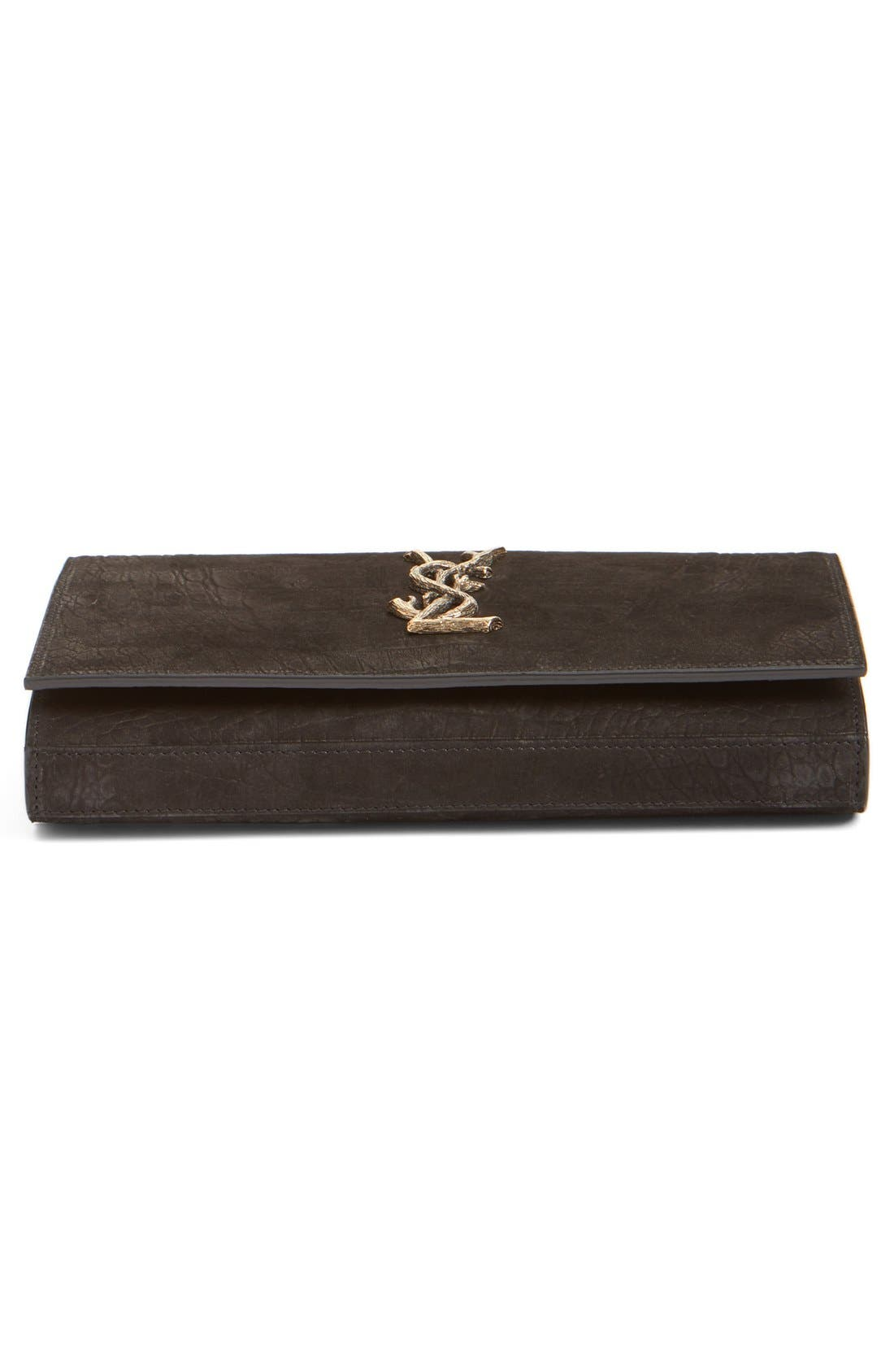 Alternate Image 5  - Saint Laurent 'Small Kate - Tree' Croc Embossed Calfskin Leather Wallet on a Chain