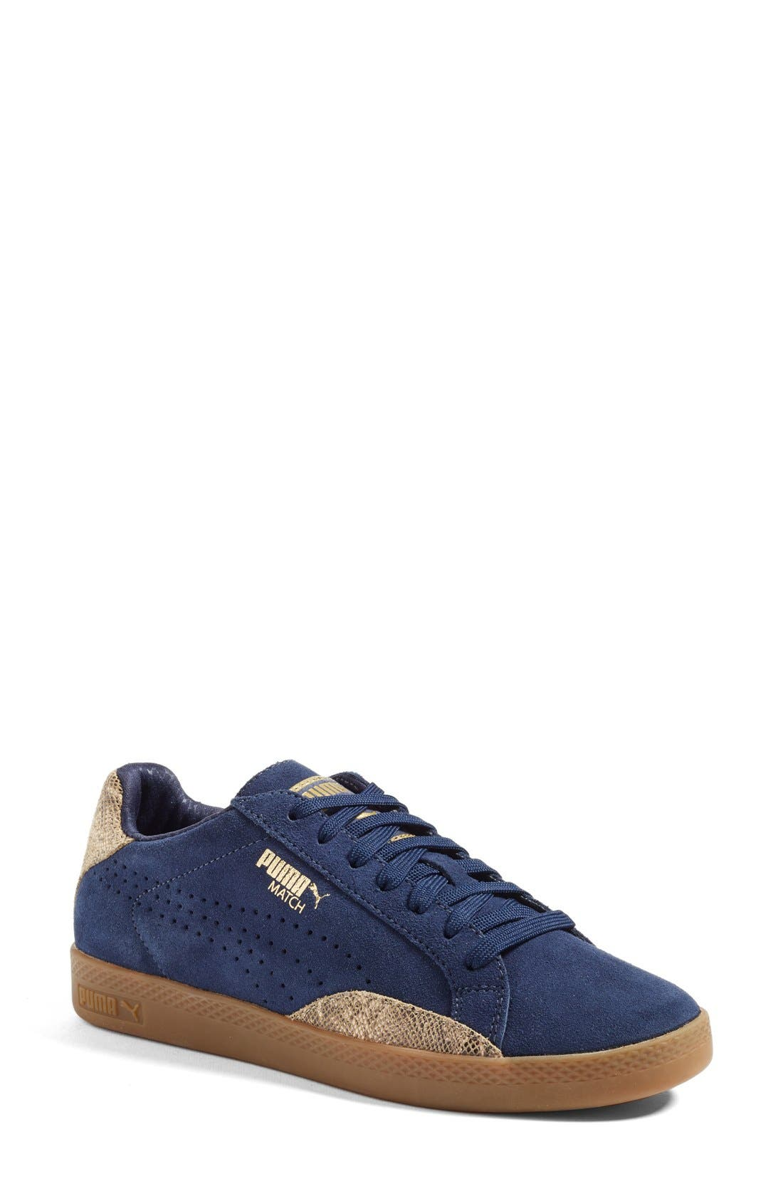 Main Image - PUMA 'Match Lo - Basic Sport' Leather Sneaker (Women)