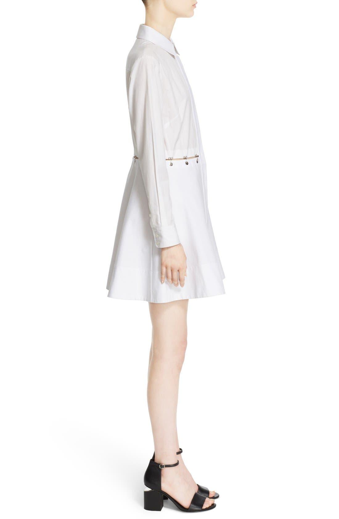 Alternate Image 5  - Alexander Wang Hook & Grommet Detail Cotton Poplin Shirtdress