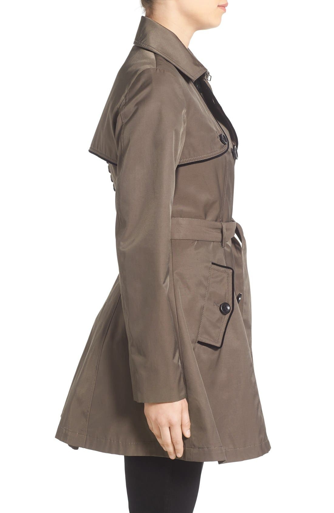 Alternate Image 3  - Betsey Johnson Corset Back Trench Coat
