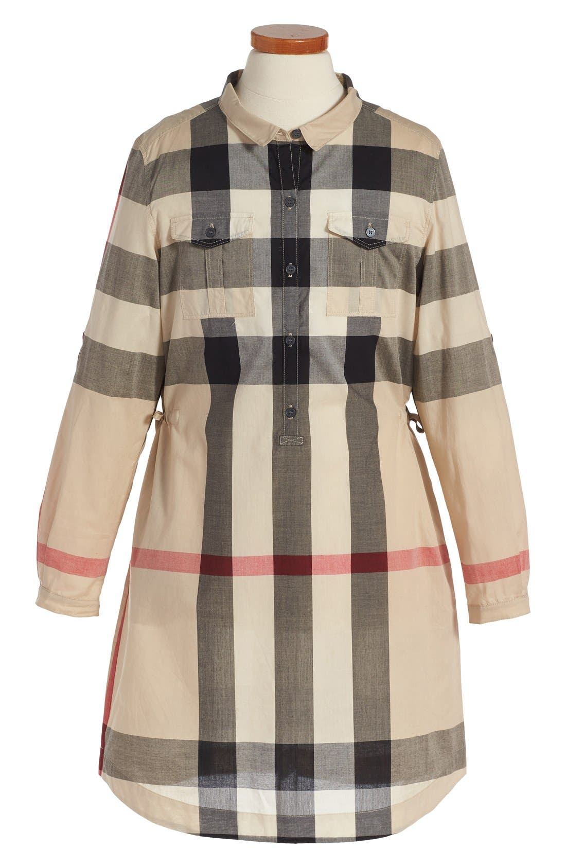 Burberry 'Darielle' Check Print Dress (Little Girls & Big Girls)