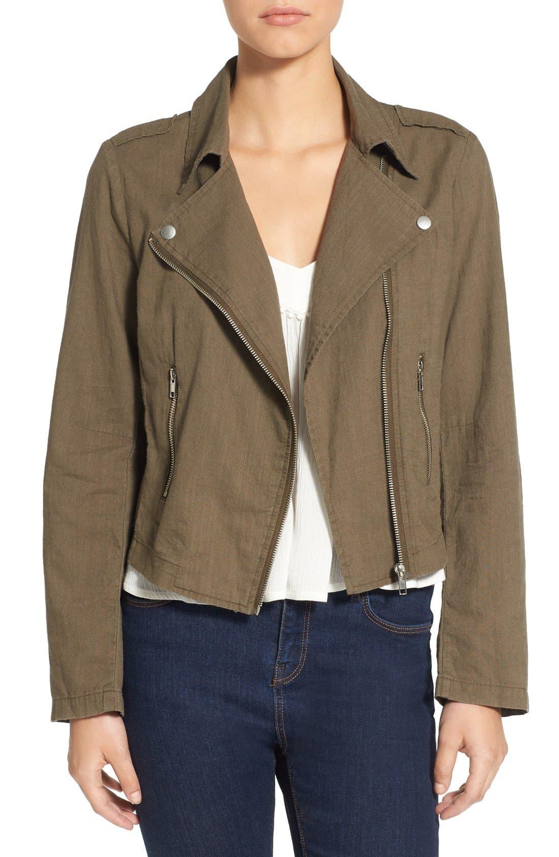 Alternate Image 1 Selected - BP. Lightweight Cotton Moto Jacket