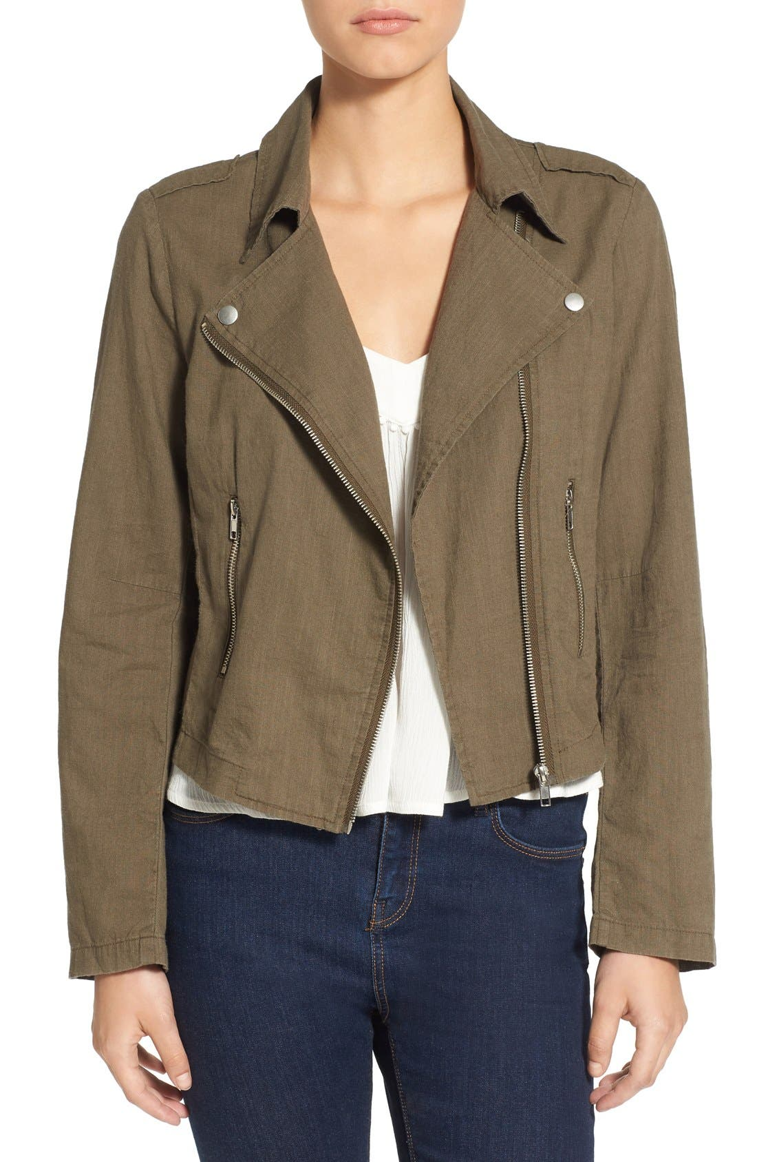 Main Image - BP. Lightweight Cotton Moto Jacket
