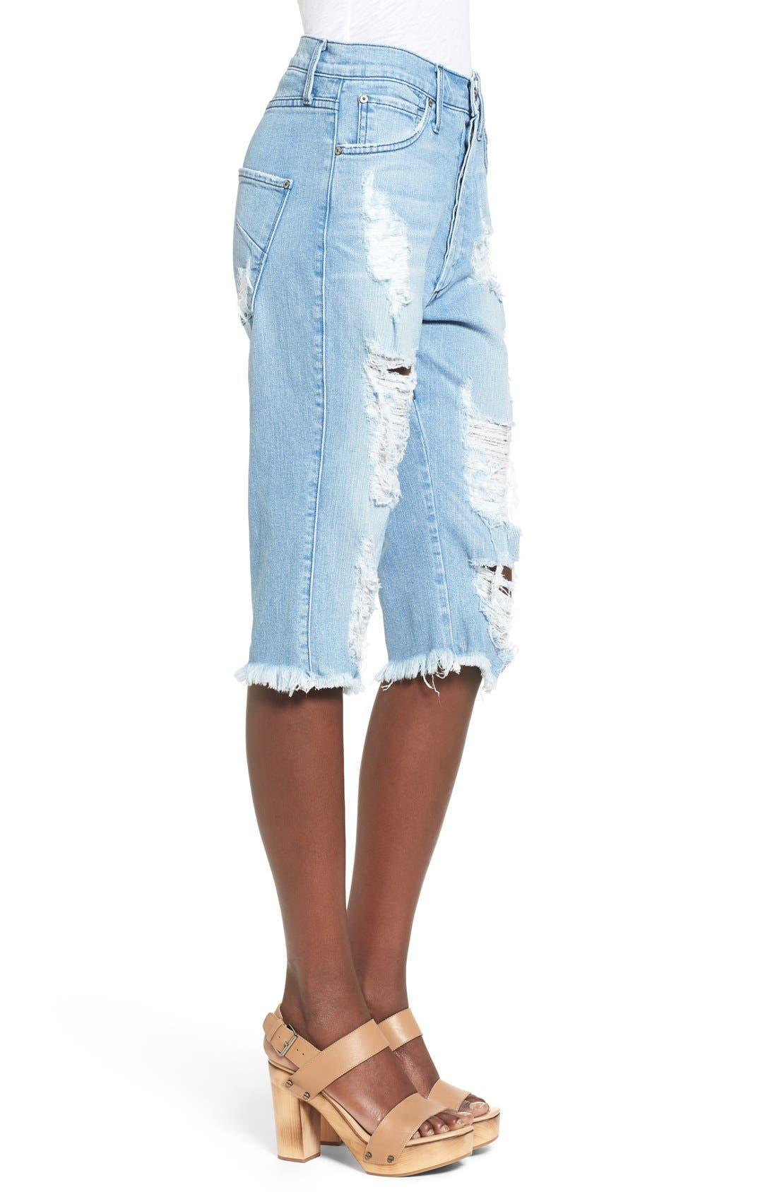 Alternate Image 3  - James Jeans Distressed Bermuda Shorts (Joy Ride)
