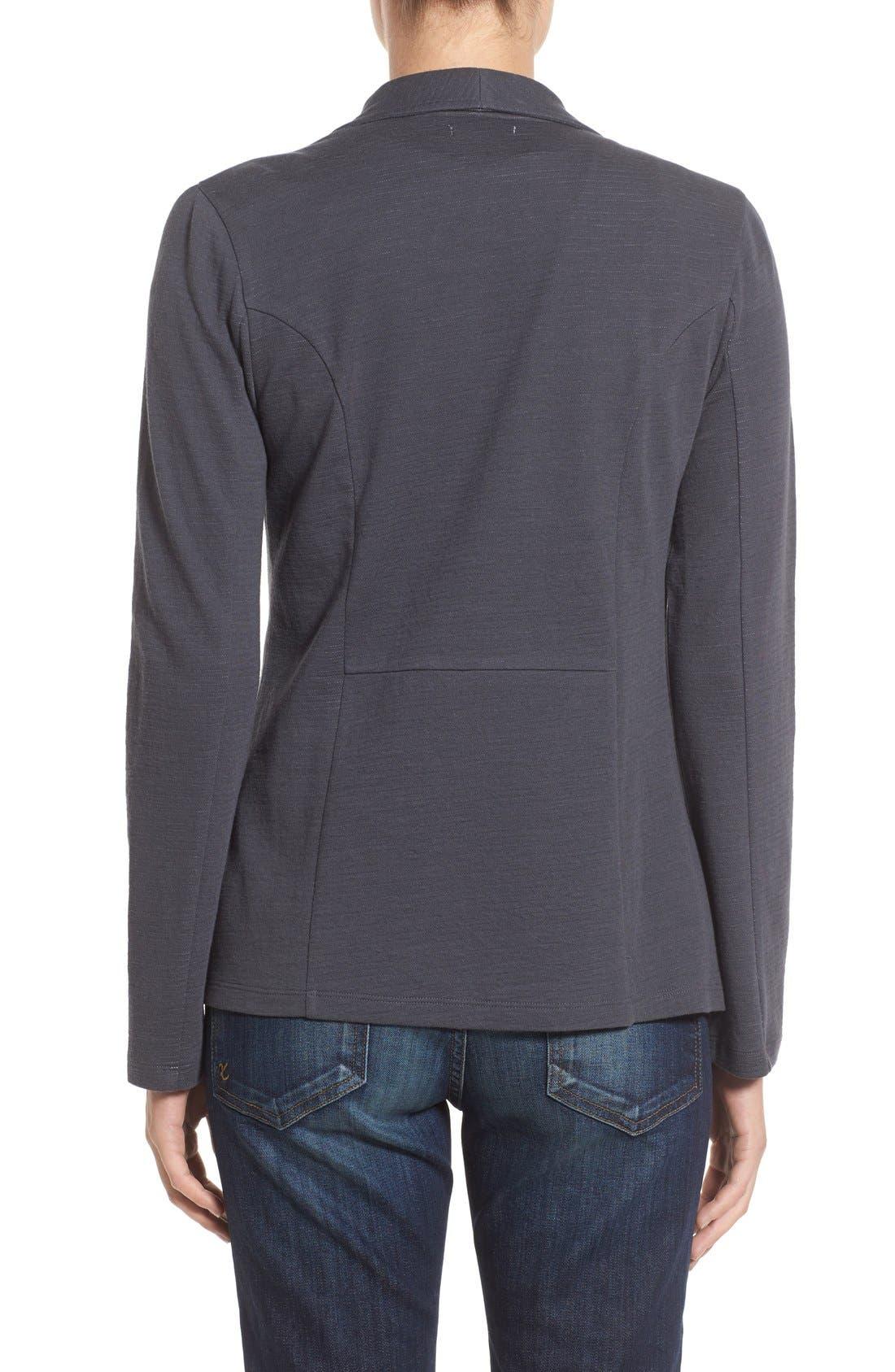 Alternate Image 2  - Caslon® Cotton Knit Open Front Blazer (Regular & Petite)