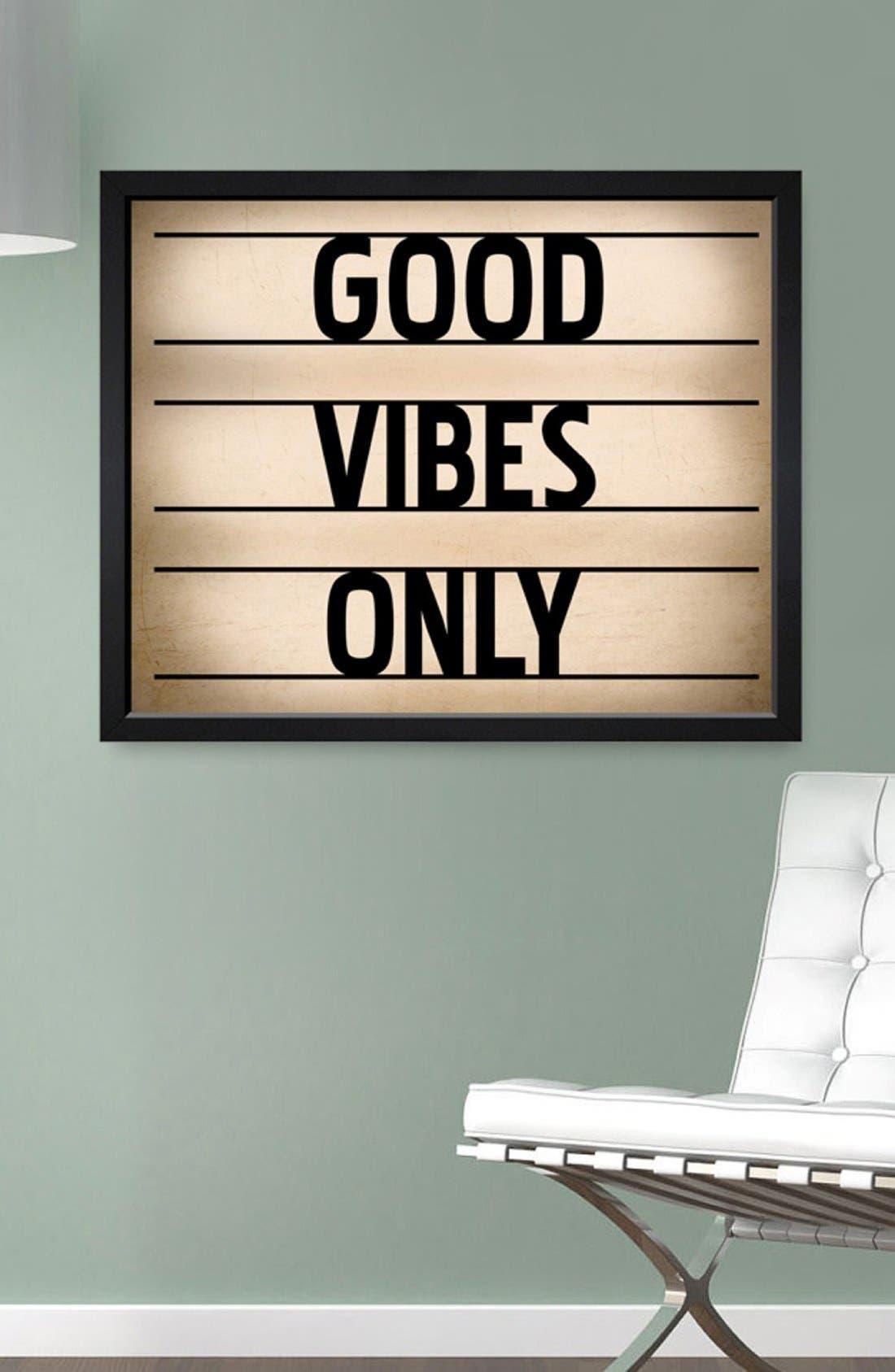 Alternate Image 2  - Hatcher & Ethan 'Good Vibes Only' Framed Print