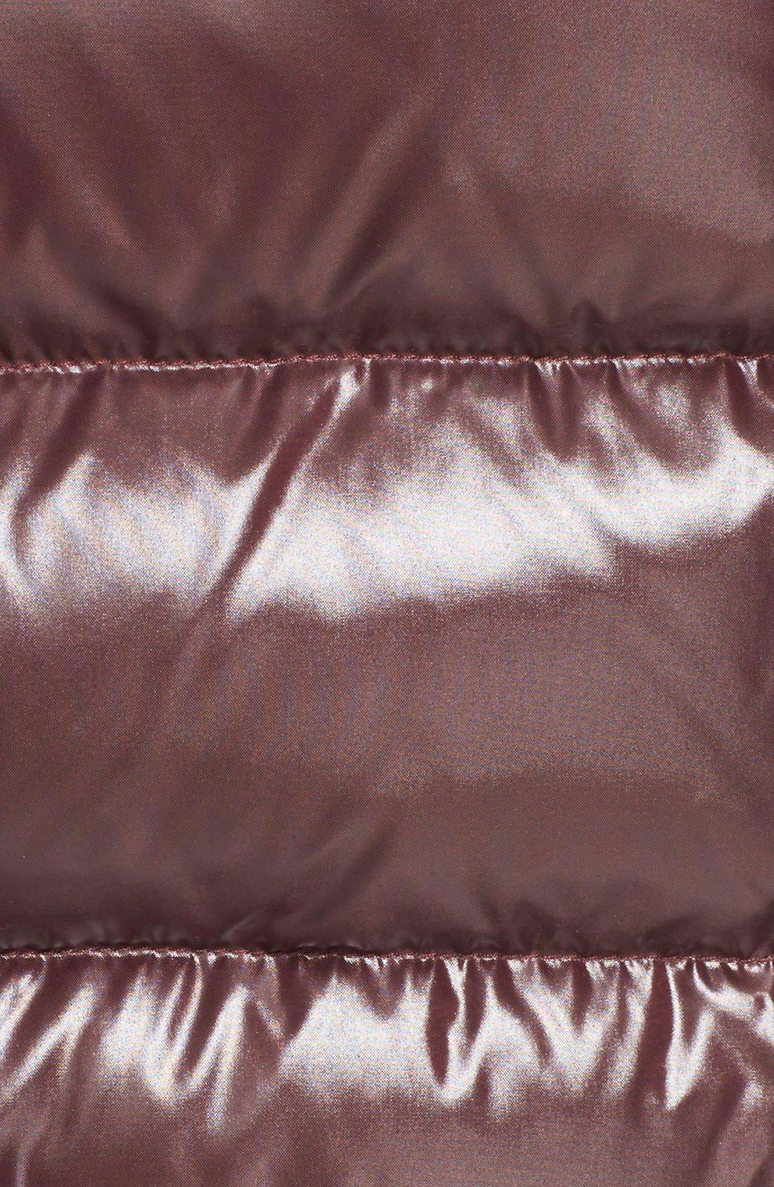 Alternate Image 3  - Moncler 'Sotiria' Water Resistant Shiny Nylon Down Bomber Jacket