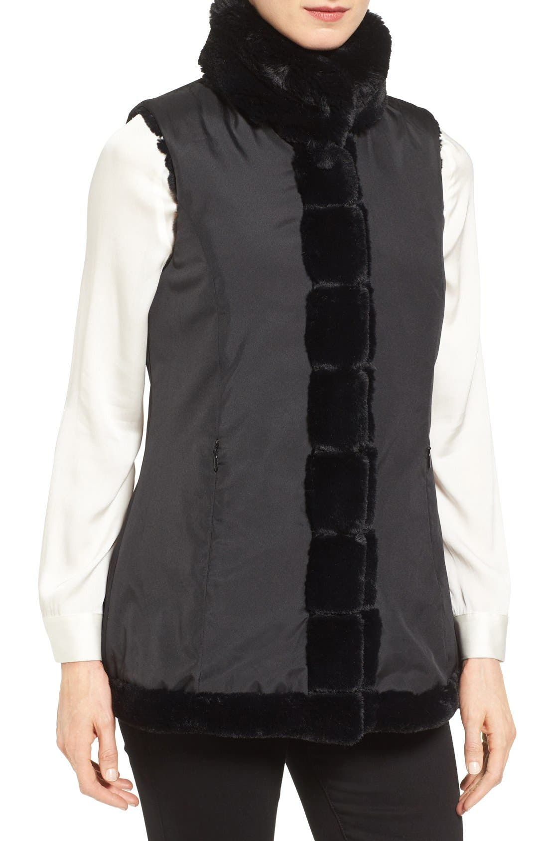 Alternate Image 4  - Jones New York Reversible Faux Fur Vest