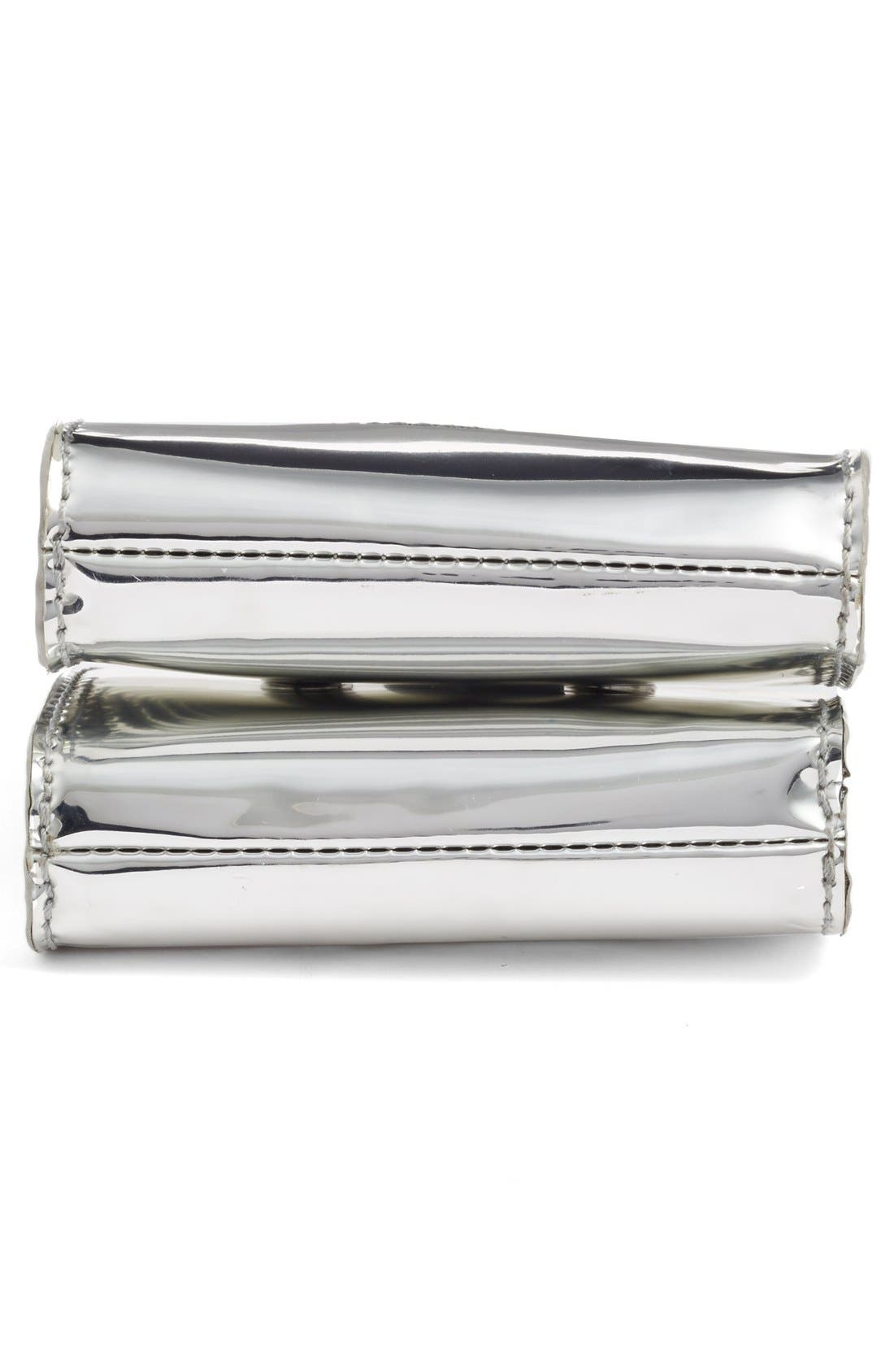 Alternate Image 6  - Opening Ceremony 'Coin' Metallic Calfskin Leather Double Clutch