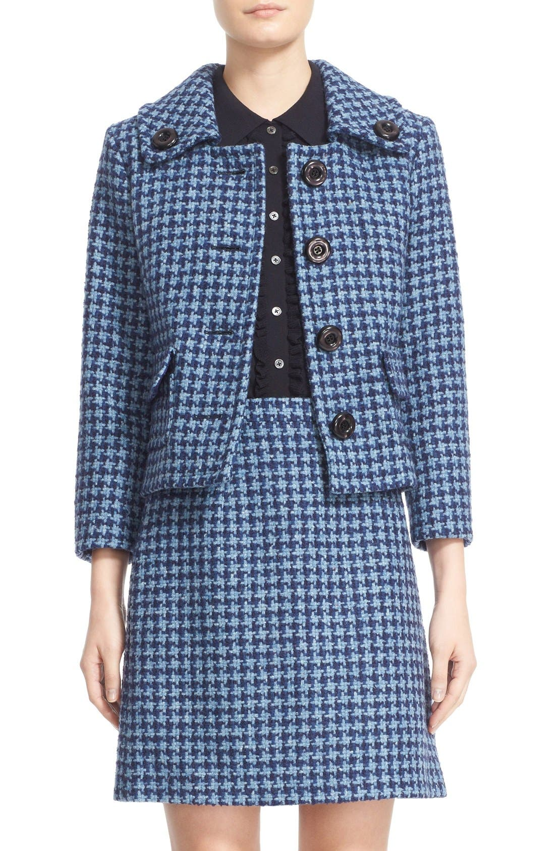 Alternate Image 1  - Michael Kors Houndstooth Tweed Jacket